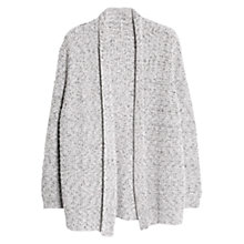 Buy Violeta by Mango Metallic Cardigan, Light Pastel Grey Online at johnlewis.com