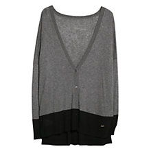 Buy Violeta by Mango Contrast Hem Cardigan Online at johnlewis.com