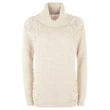 Buy Mint Velvet Lace Insert Knit Jumper, Ecru Online at johnlewis.com