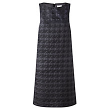 Buy Jigsaw Dogtooth A-line Dress, Black Online at johnlewis.com