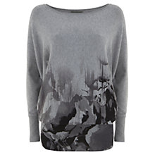 Buy Mint Velvet Mica Print Knit Jumper, Mid Grey Online at johnlewis.com