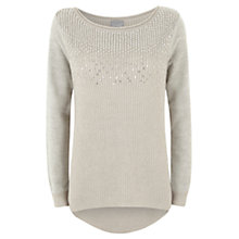 Buy Hygge by Mint Velvet Linear Sequin Knit Top, Grey Online at johnlewis.com