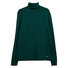 Buy Violeta by Mango Turtle Neck Jumper, Dark Green Online at johnlewis.com