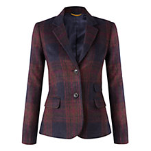 Buy Jigsaw Balmoral Check Jacket, Purple Online at johnlewis.com