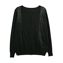Buy Violeta by Mango Lace Detail Cardigan Online at johnlewis.com