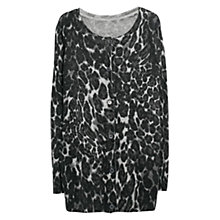 Buy Violeta by Mango Animal Print Cardigan, Grey Online at johnlewis.com