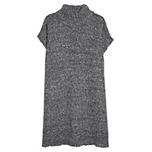 Buy Violeta by Mango Flecked Poncho, Dark Grey Online at johnlewis.com
