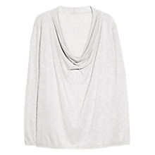 Buy Violeta by Mango Draped Neck Jumper, Pastel Grey Online at johnlewis.com