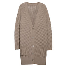 Buy Violeta by Mango Textured Knit Cardigan, Medium Brown Online at johnlewis.com