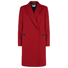 Buy Planet Funnel Neck Coat, Red Online at johnlewis.com