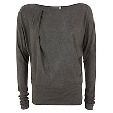 Buy Mint Velvet Batwing Tunic Top, Granite Online at johnlewis.com