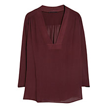 Buy Violeta by Mango Textured Flowy Blouse, Dark Red Online at johnlewis.com