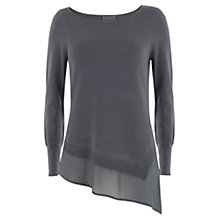 Buy Mint Velvet Asymmetric Hem Knit Top, Grey Online at johnlewis.com