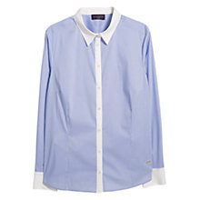 Buy Violeta by Mango Striped Fitted Shirt, Light Pastel Blue Online at johnlewis.com