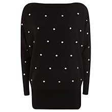 Buy Mint Velvet Batwing Knit Top, Black Online at johnlewis.com
