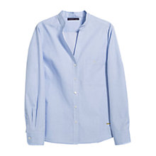 Buy Violeta by Mango Cotton Oxford Shirt, Light Pastel Blue Online at johnlewis.com