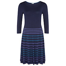 Buy Kaliko Knit Skater Dress, Blue Online at johnlewis.com