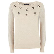 Buy Mint Velvet Beaded Jumper, Neutral Online at johnlewis.com