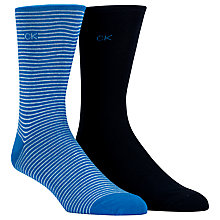 Buy Calvin Klein Fine Stripe Socks, Pack of 2 Online at johnlewis.com