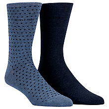 Buy Calvin Klein Dot Socks, Pack of 2, Chambray Online at johnlewis.com