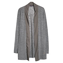 Buy Violeta by Mango Mixed Wool Blend Cardigan, Medium Brown Online at johnlewis.com