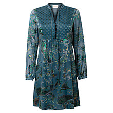 Buy East Odille Paisley Tunic Dress, Teal Online at johnlewis.com