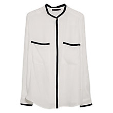 Buy Violeta by Mango Contrast Trim Blouse, Natural White Online at johnlewis.com