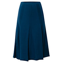 Buy East Merino Godet Cable Skirt, Teal Online at johnlewis.com