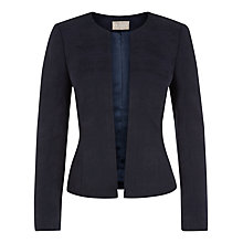 Buy Planet Collarless Jacket, Navy Online at johnlewis.com
