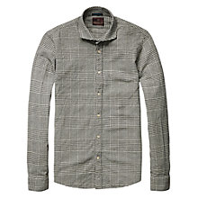 Buy Scotch & Soda Check Wool Look Shirt, Grey Online at johnlewis.com