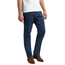 Buy Gant 11 oz Comfort Regular Straight Jeans, Mid Blue Online at johnlewis.com