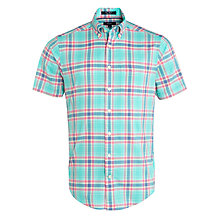 Buy Gant Sunset Poplin Short Sleeve Shirt, Paradise Green Online at johnlewis.com