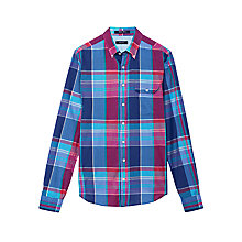 Buy Gant Wilshire Check Shirt, Vintage Blue Online at johnlewis.com