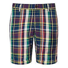 Buy Gant Madras Checked Shorts, Vintage Blue/Multi Online at johnlewis.com