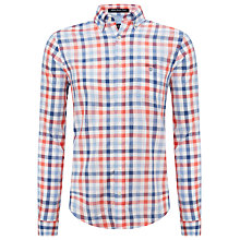 Buy Gant Malibu Heat Poplin Check Shirt, Cyclamen Red Online at johnlewis.com