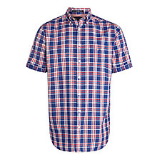 Buy Gant River Inn Gingham Long Sleeve Shirt, Bright Red Online at johnlewis.com