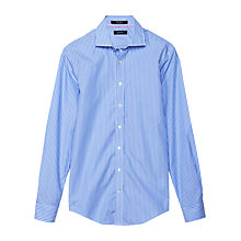Buy Gant Striped Long Sleeve Shirt, Indigo Blue Online at johnlewis.com