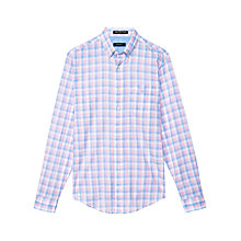Buy Gant Malibu Check Long Sleeve Shirt, Rose Melange Online at johnlewis.com