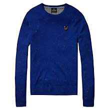 Buy Scotch & Soda Multi-Fleck Crew Neck Jumper, Cobalt Online at johnlewis.com