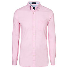 Buy Gant Colour Block Oxford Shirt, Pastel Pink Online at johnlewis.com