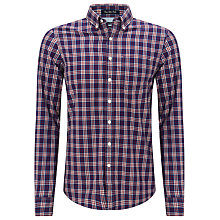 Buy Gant Ocean Safari Poplin Shirt, Navy/Red Online at johnlewis.com