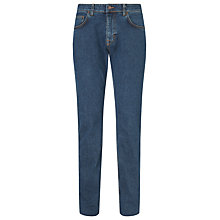 Buy Gant Tyler Knight Straight Comfort Jeans, Mid Blue Worn In Online at johnlewis.com