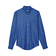 Buy Gant Chambray Long Sleeve Poplin Shirt, Indigo Online at johnlewis.com