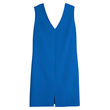 Buy Mango V-Neckline Dress, Medium Blue Online at johnlewis.com