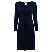 Buy East Double Layer Jersey Dress, Navy Online at johnlewis.com