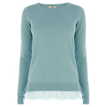 Buy Oasis Lace Hem Top Online at johnlewis.com