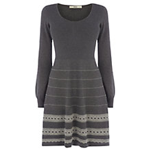 Buy Oasis Textured Hem Dress, Mid Grey Online at johnlewis.com