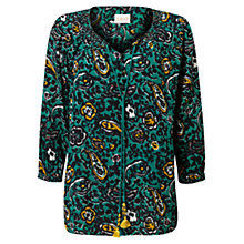Buy East Romani Print Blouse, Lagoon Online at johnlewis.com