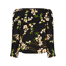 Buy Oasis Cherry Blossom Long Sleeved Top, Multi Black Online at johnlewis.com