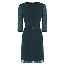 Buy Oasis Lace A Line Shift Dress, Teal Online at johnlewis.com
